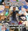 are you not entertained, is this not why you are here?, gladiator about anime up skirts, meme