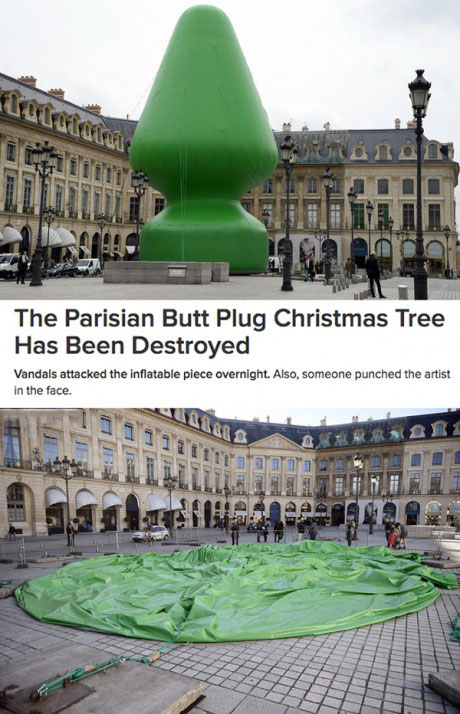 The Parisian Butt Plug Christmas Tree Has Been Destroyed -6850