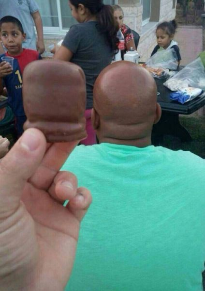 when your chocolate looks like the man in front of you