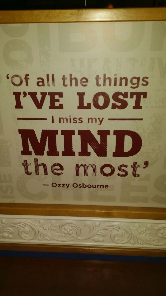 of all the things i lost, i miss my mind the most, ozzy osbourne