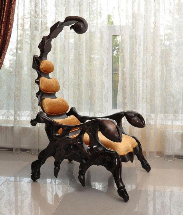 cool scorpion chair, bad ass furniture