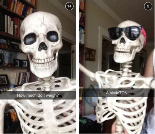 how much do i weigh, a skeleton, deal with it