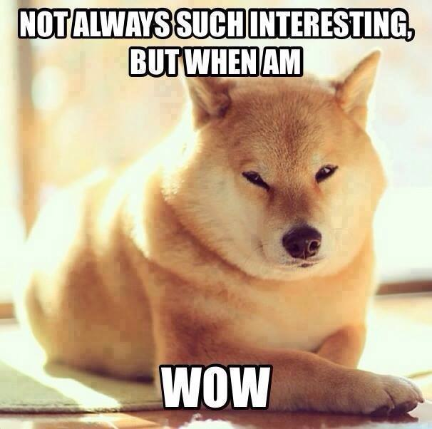 not always such interesting, but when am wow, doge, meme