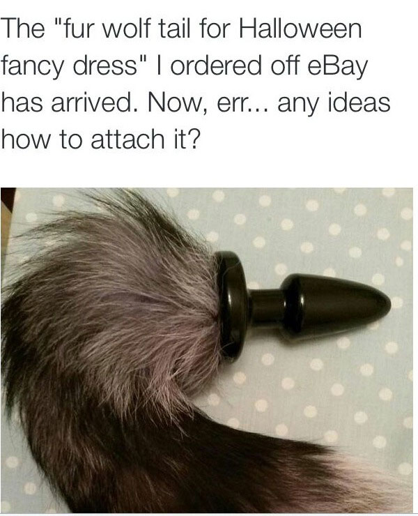 The Fur Wolf Tail For Halloween Fancy Dress I Ordered Off -5151