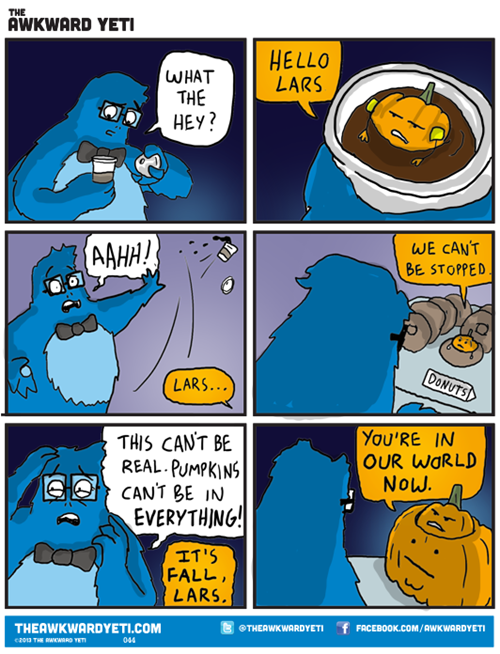 pumpkin is in everything, fall is coming, brace yourselves, comic