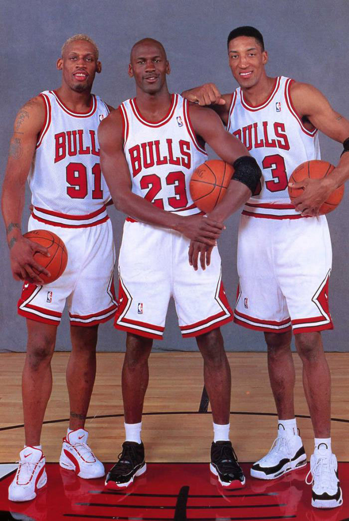 the true dream team, denis rodman, michael jordan, scottie pippen