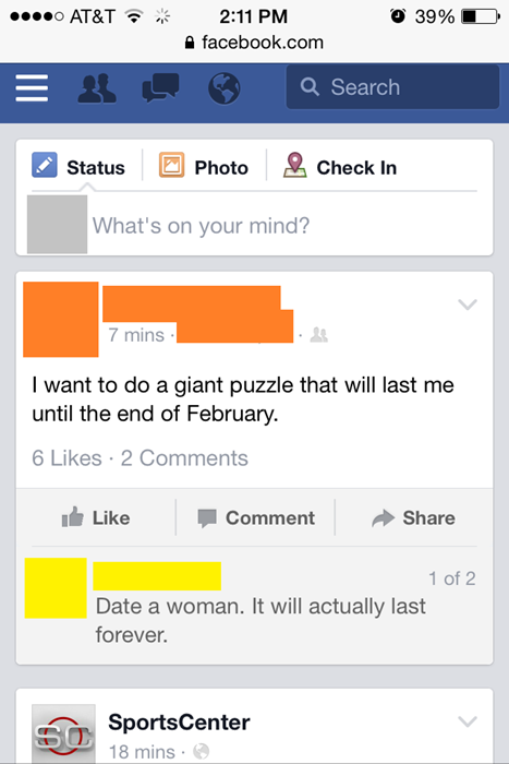 i want to do a puzzle that will last till the end of february, date a woman it will actually last forever