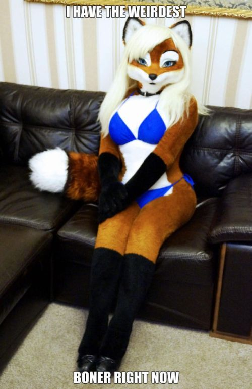 i have the weirdest boner right now, furry cosplay