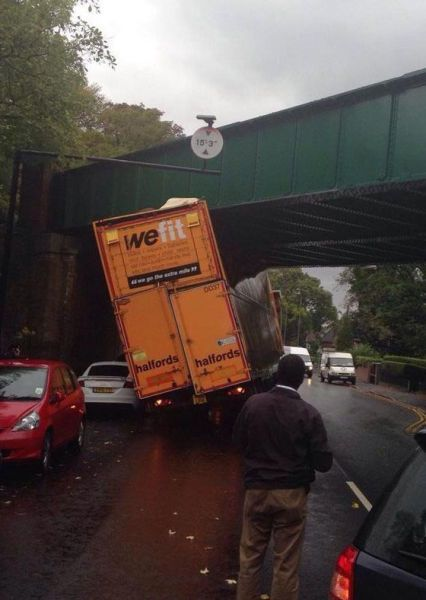 truck with we fit on the back does not fit under overpass
