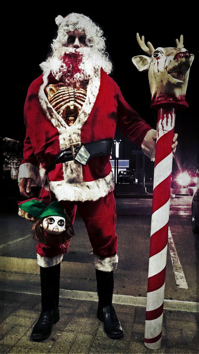 epic zombie santa claus costume, halloween