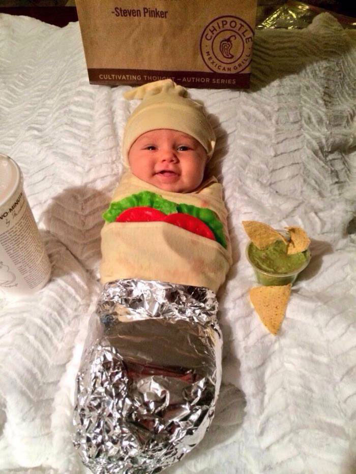 baby taco costume, cute, lol