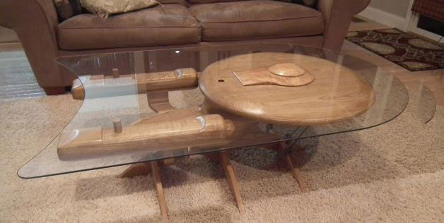 the enterprise coffee table, star trek, win