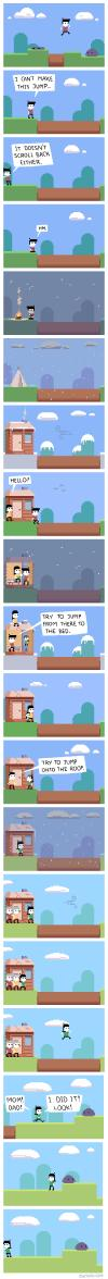 everything not saved will be lost, beautiful comic about the nature of things, parents, kids, life, win