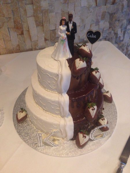 when you want chocolate and your partner wants vanilla, wedding cake