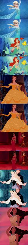 disney princesses if they had realistic waist lines