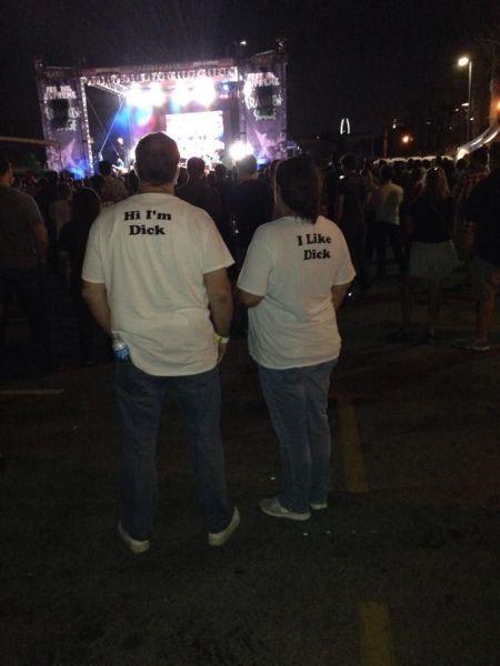 hi i'm dick, i like dick, couple tshirt