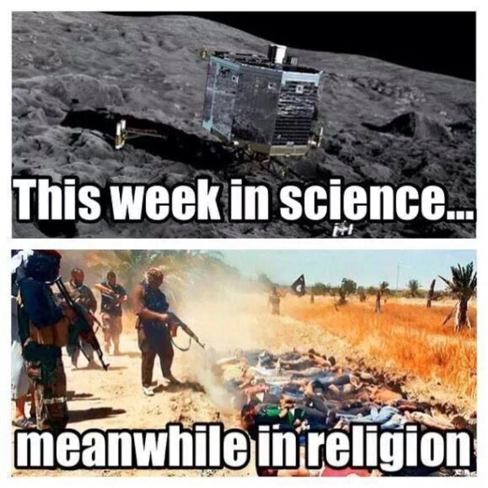 this week in science, meanwhile in religion