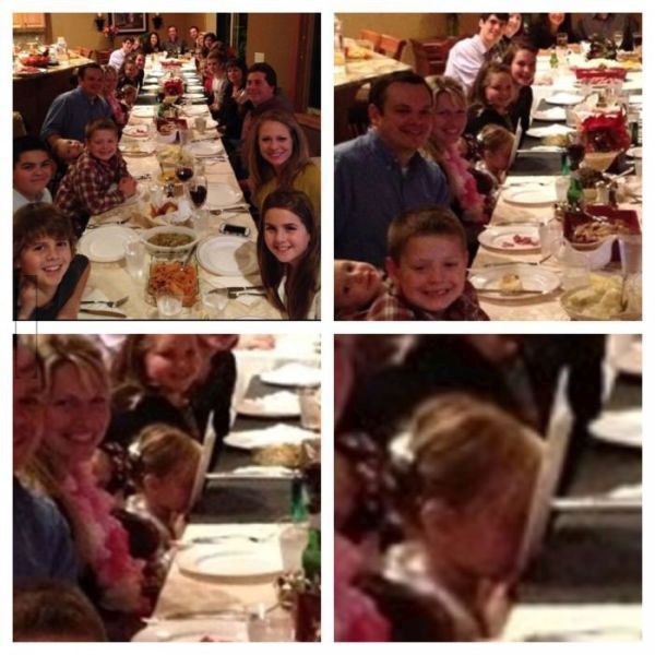 little girl in the most subtle and hilarious photobomb yet