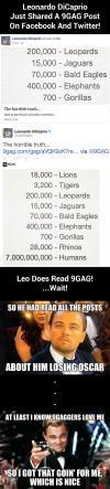 leonardo dicaprio reads 9gag