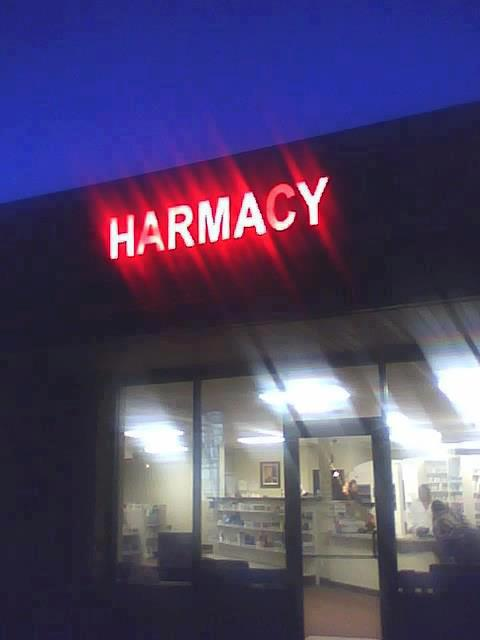 harmacy, failed neon sign at the local pharmacy, better names for things