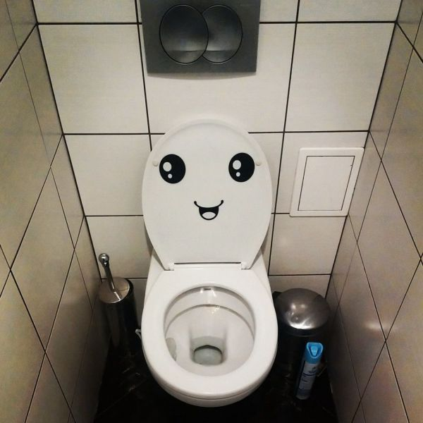 mind if i watch?, happy face on underside of toilet seat, wtf