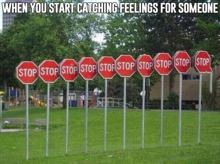 when you start catching feelings for someone