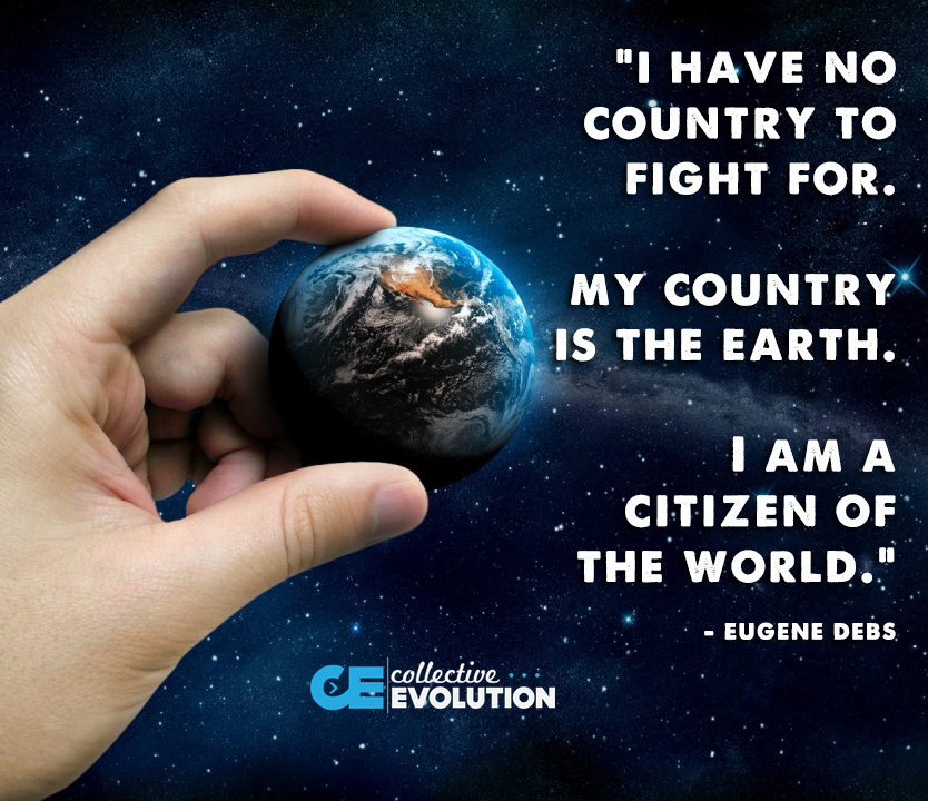 i have no country to fight for, my country is the earth, i am a citizen of the world