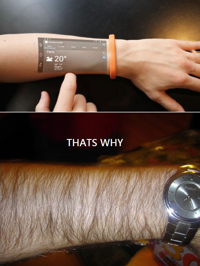 why aren't we funding this?, that's why, hairy arms ruins wrist projector