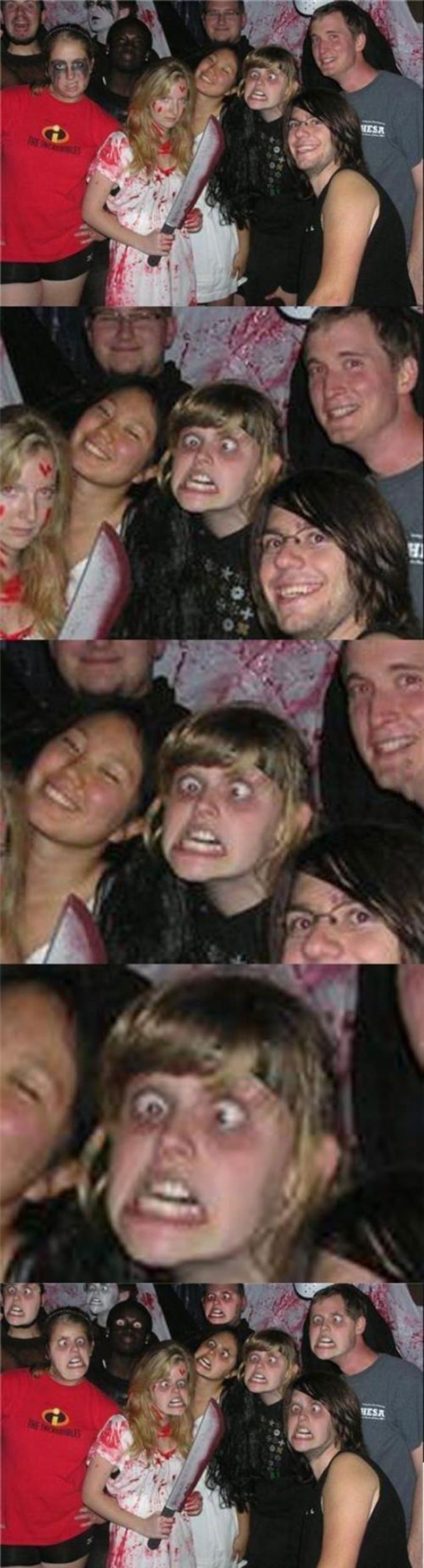 halloween party photobomb, face swap