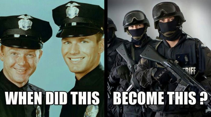 when did this become this, stop police militarization