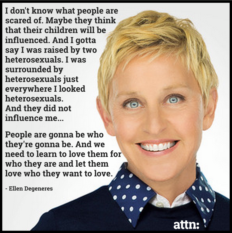 people are gonna be who they're gonna be and we need to learn to love them for who they are and let them love who they want to love, ellen degeneres
