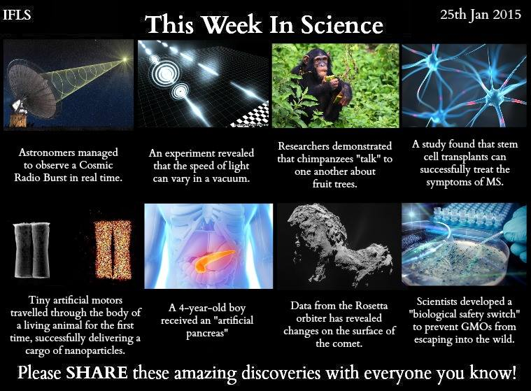 this week in science 25th january 2015