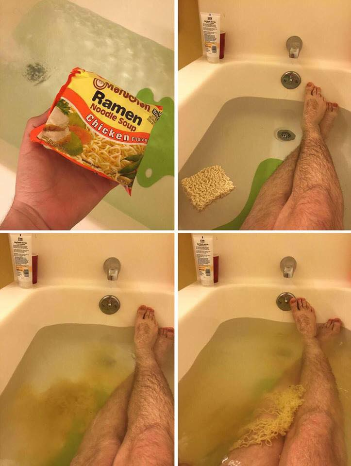 ramen chicken noodle soup bath bomb, lol, wtf