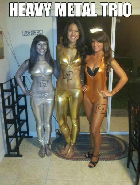 the heavy metal trio, costume, meme