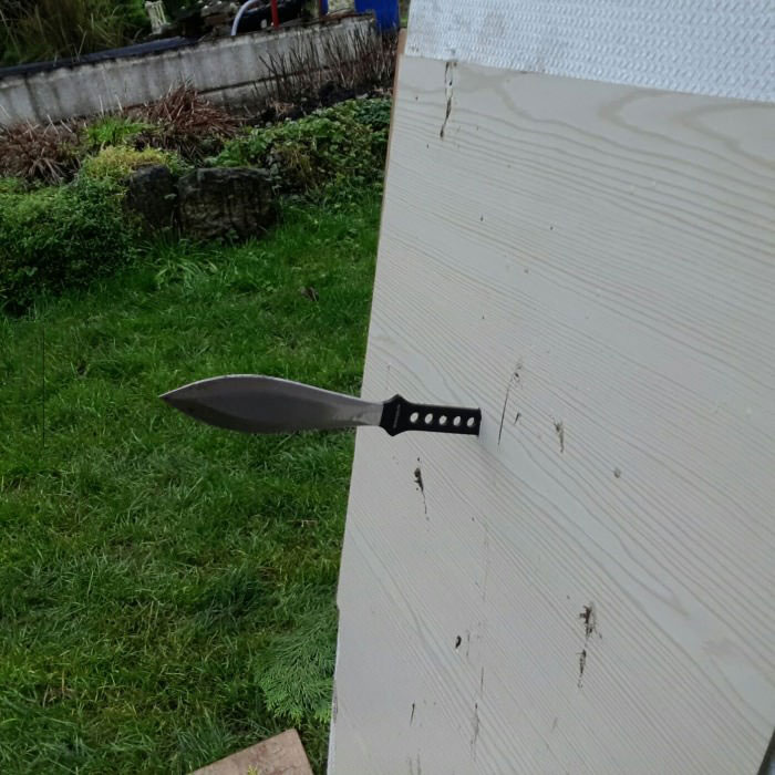 while practising knife throwing, i've done this twice now and i don't know if that's good or bad