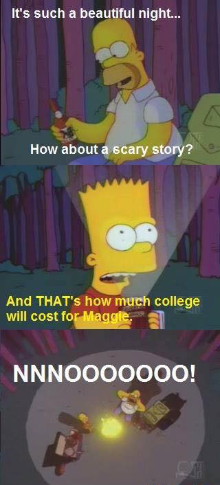 and that's how much college will cost for maggie, nnnooooooo!, the simpsons