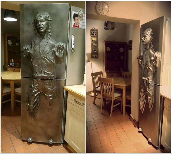 Superieur Han Solo In Carbonite Refrigerator Door
