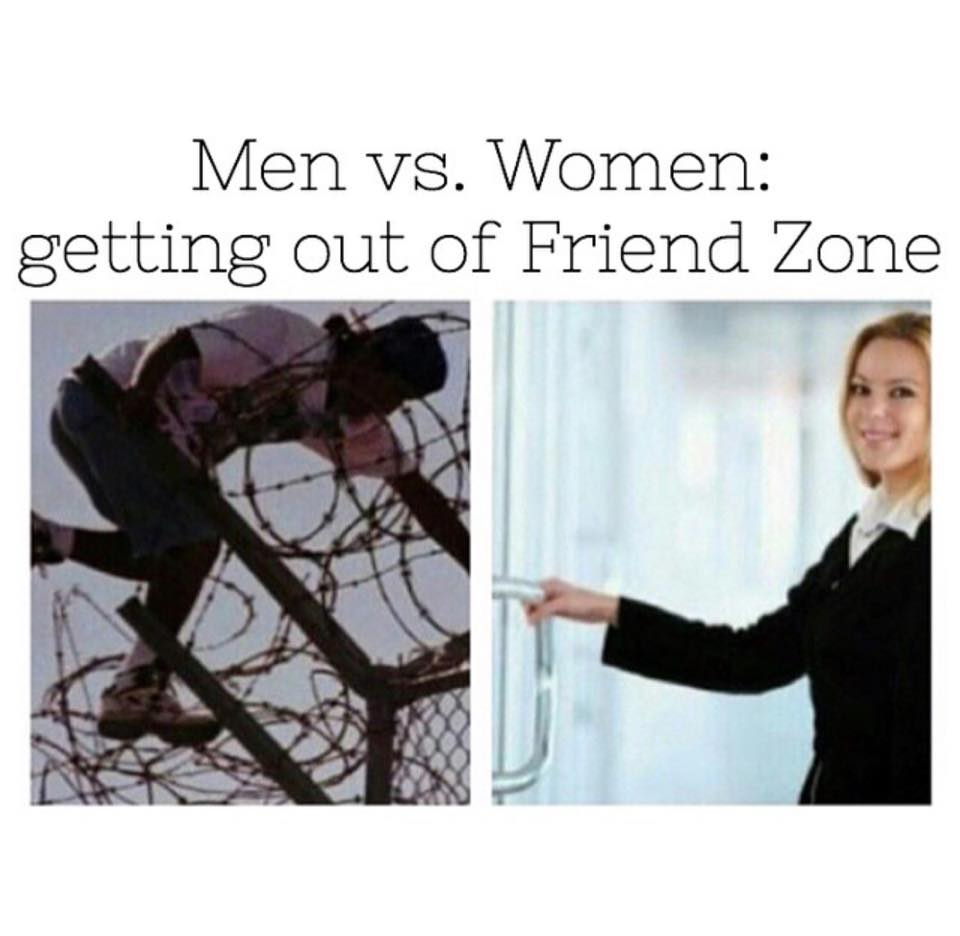 men versus women getting out of the friendzone