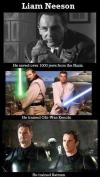 liam neeson saved over 1000 jews from the nazis, he trained obi-wan kenobi and batman