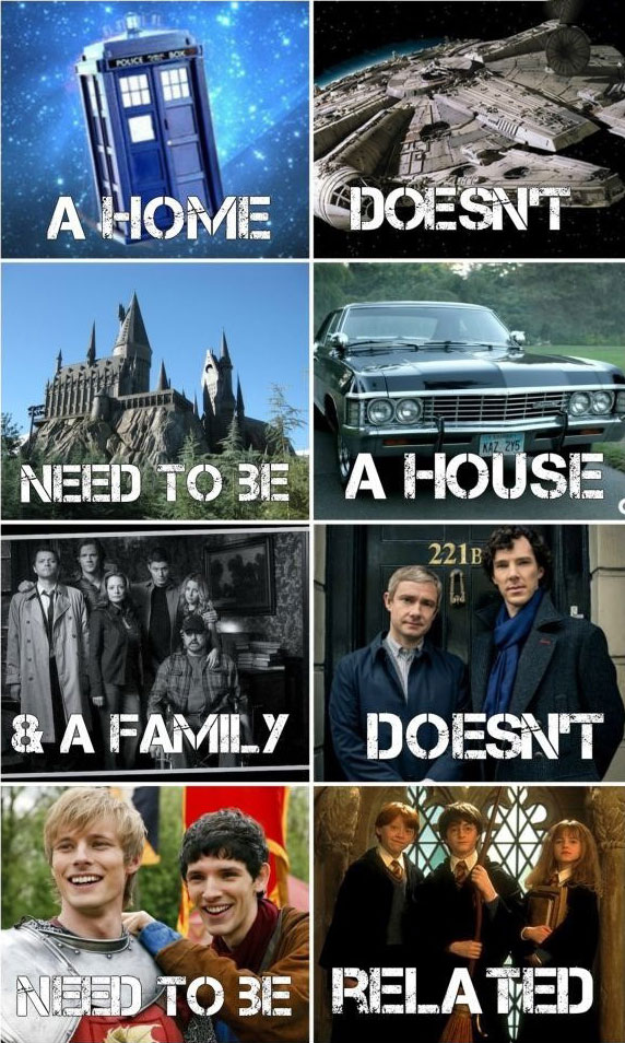 a home doesn't need to be house and a family doesn't need to be related