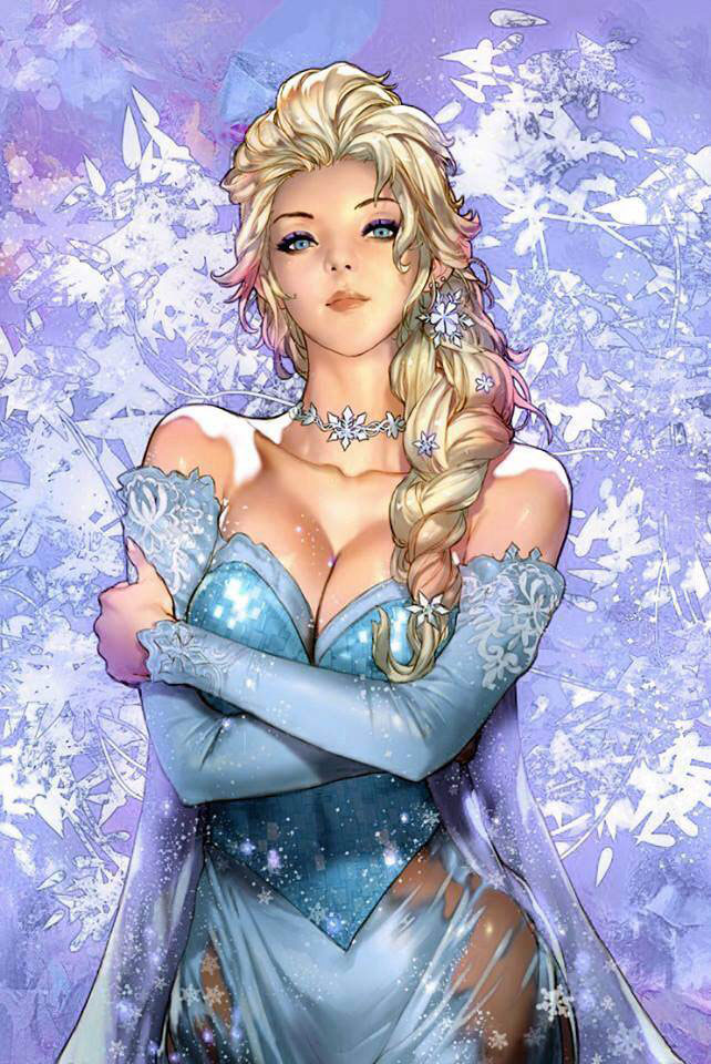 frozen fan art, elsa the snow queen