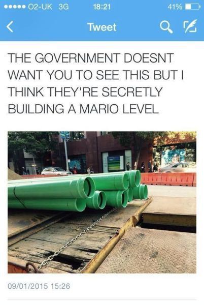 the government doesn't want you to see this but i think they're secretly building a mario level