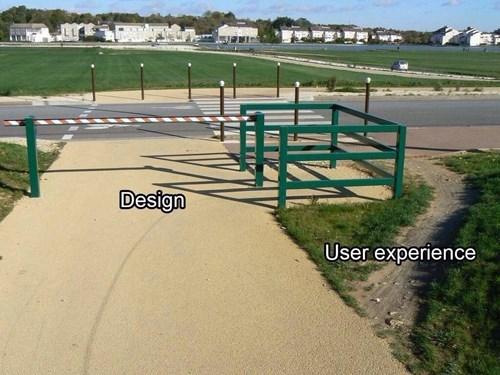 design versus user experience