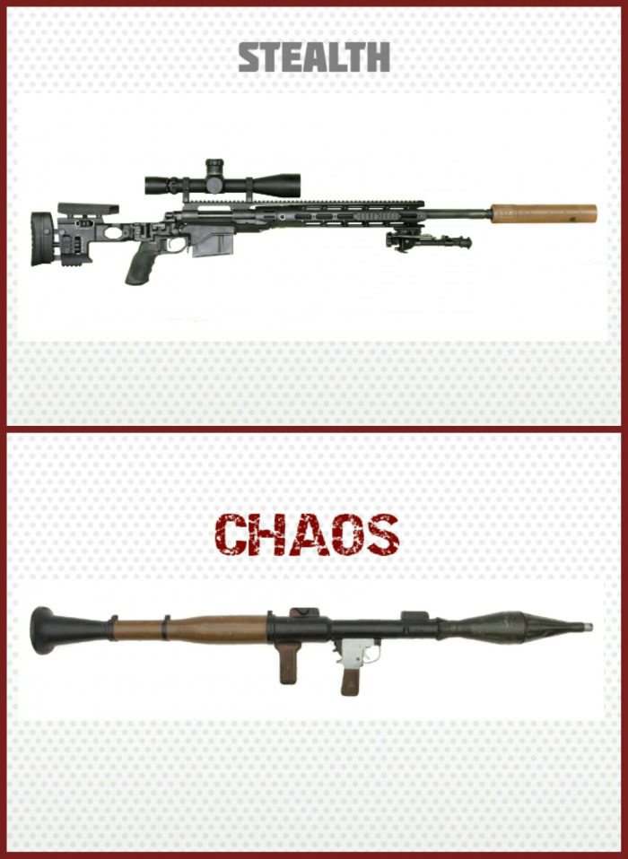 stealth versus chaos, there are two types of gamers in this world