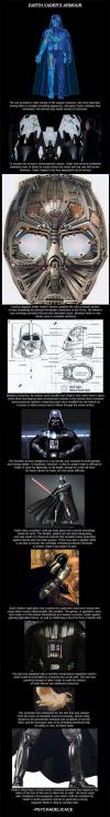 the low down on darth vader's suit, star wars