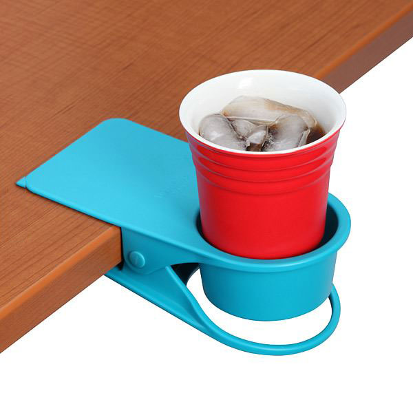 table clip cup holder, or you know you could put it on the table