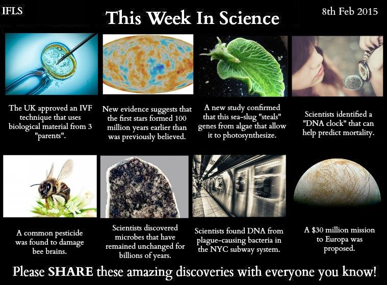 this week in science, 8th february 2015