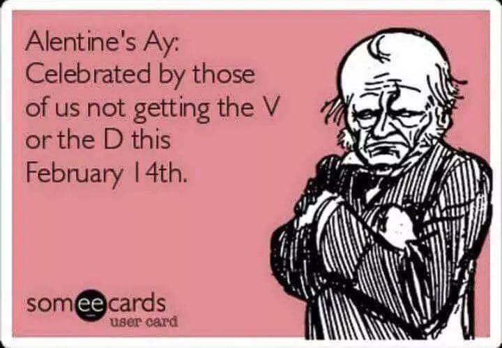 alentine's ay, celebrated by those of us not getting the v or the d this february 14th, ecard