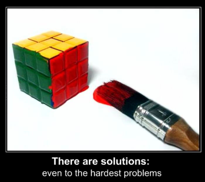 there are solutions even to the hardest problems, motivation