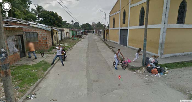 a shooting in colombia caught on google street view